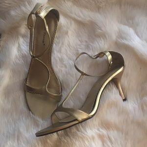 Pierre dumas gold heels